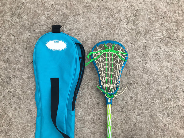 Lacrosse Stick 43 inch STX Blue Lime With Carry Bag Excellent