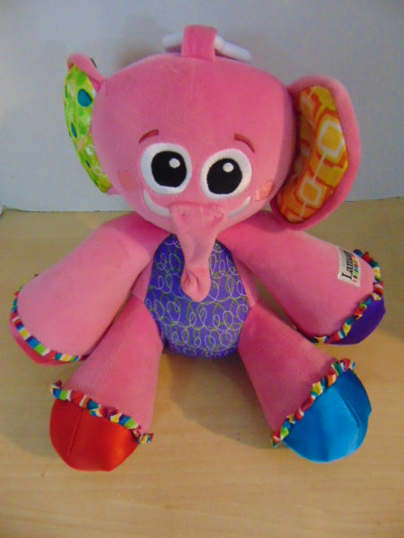 Lamaze Large Tap a Tune Pink Elephant Activity Baby Toy Excellent