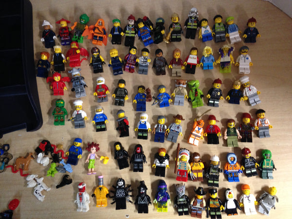 Lego 72 figures with Case and Accessories