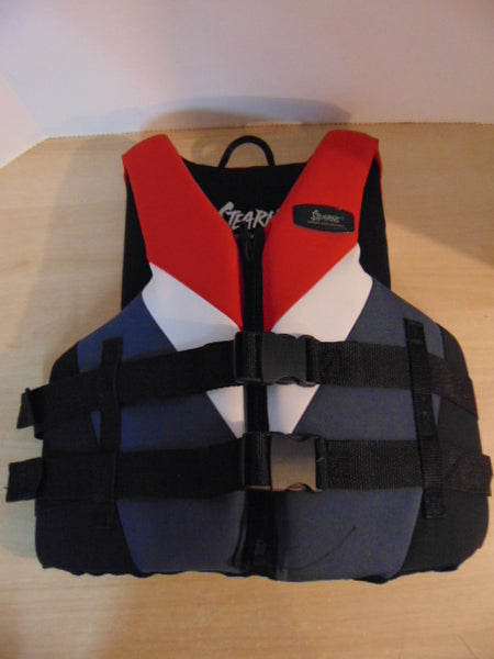 Life Jacket Adult Size Medium Stearns Neoprene Red Grey Black Excellent