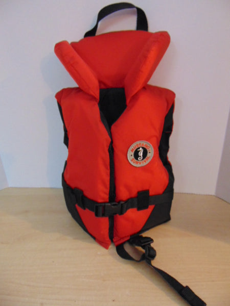 Life Jacket Infant Size 20-30 lb Mustang Survival Red Black New Demo Model