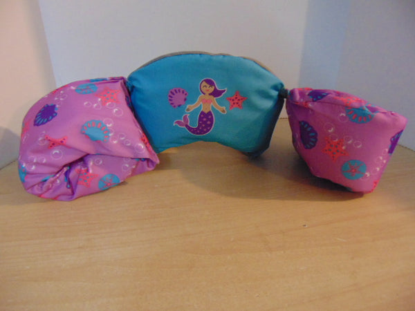 Life Jacket Child Size 30-50 Pound Puddle Jumper Purple Blue Mermaid