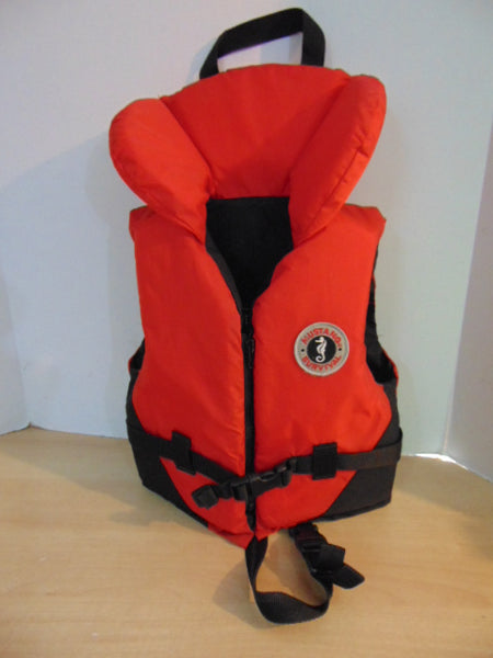 Life Jacket Child Size 30-60 lb Mustang Survival Red Black New Demo Model