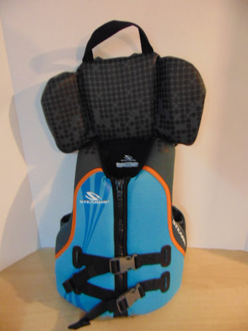 Life Jacket Child Size 60-90 Lb Youth Stearns Neoprene Blue Grey As New