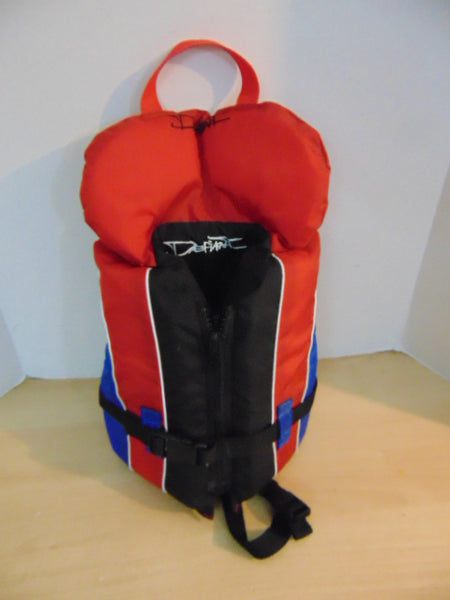 Life Jacket Infant Size 20-30 Lb Defiant New Demo Model Red Blue