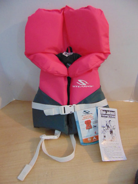 Life Jacket Infant  Size 20-30 lb Stearns Pink Grey NEW WITH TAG