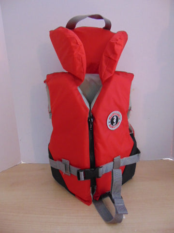 Life Jacket Child Size 30-60 Lb Mustang Survival Red Grey New Demo