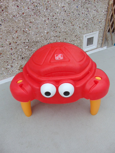 Little Tikes Step 2 Red Crab Sandbox Sand Table With Lid Age 2-4 Excellent