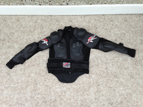 Motocross BMX Dirt Bike Bike Men's Size Large Pro Biker Sports Jacket Chest Arm Armour Excellent