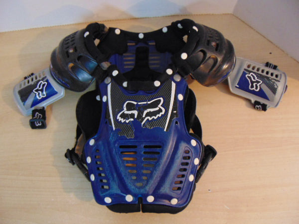Motocross BMX Dirt Bike Chest Protector Child Size 7-9 Fox Blue Black Minor Wear