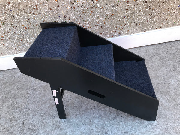 My Little Pet Shop Dog Pet Stairs Ramp 2 in 1 Stairs 20x28x14 inch Ramp 32x18x14 inch As New Black With Carpet