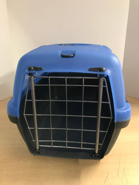 My Little Pet Shop Pet Crate Dog Cat Kennel Small Marine Blue Black Up To 15 Lb 18.9x12.5x12.2 inch