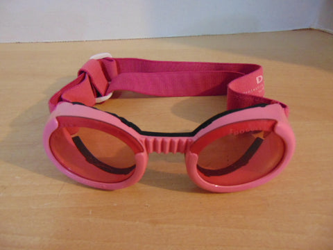 Doggles Dog Motorcycle Goggles Pink As New Large Size Dog