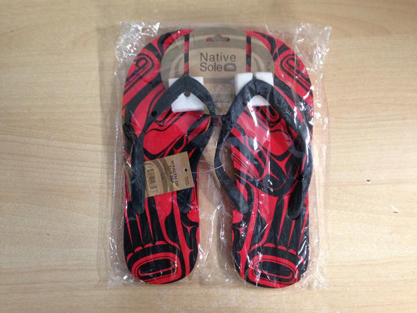 Native Indian Sole Flip Flop Sandles Men's X Large 11-12 NEW SEALED IN BAG Nice