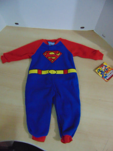 Pajama Child Size 12 Month DC Comics Micro Fleece Superman