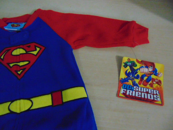 Baby Romper Pajama Size 12 Month DC Comics Micro Fleece Superman