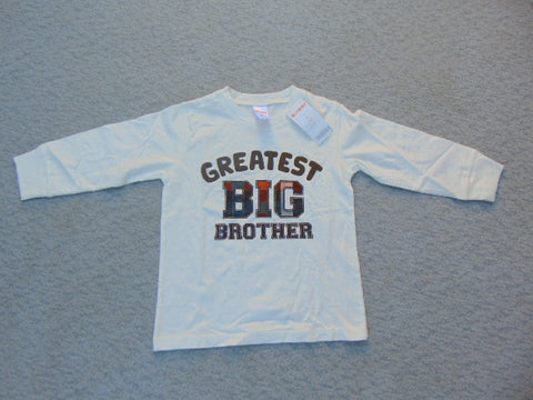 Shirt Child Size 2 Gymboree Greatest Big Brother Long Sleeve Cotton Shirt New
