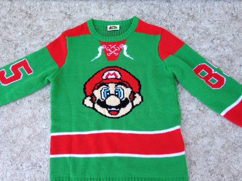 Nintendo Super Mario Vintage Child Size 14 Knit Sweater RARE