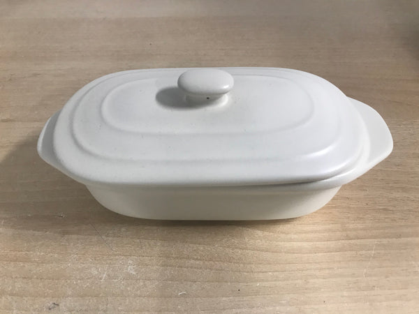 Petite Maison By Wildly Delicious Ceramic Covered butter Dish 7 X 3 X 12 inch With Tray Insert NEW Outstanding Quality