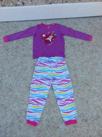 Pajama's Child Size 2-3 Pekkle Purple Multi Music Cotton As New