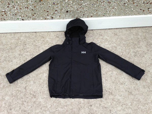 Rain Coat Child Size 10 Helly Hansen Waterproof Black New Demo Model