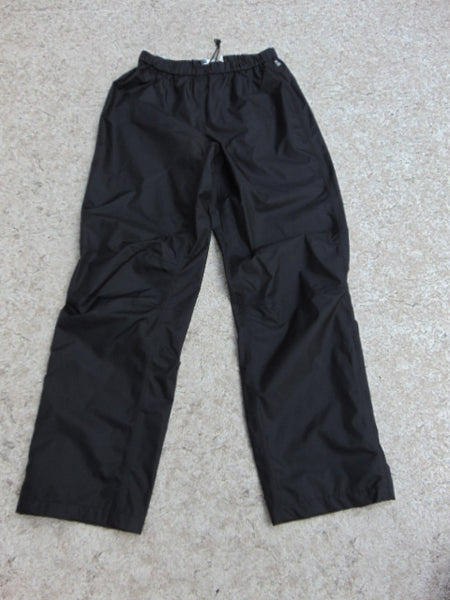 Rain Pants Men's Size Large MEC With Reflectors  Waterproof Black New Demo Model
