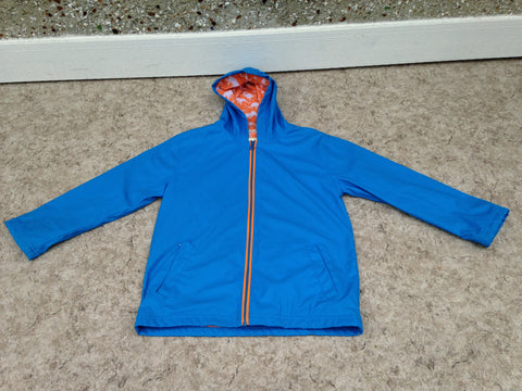 Rain Coat Child Size 10 Hatley Blue Tangerine With Dinosaurs Waterproof