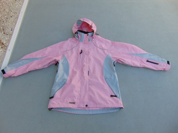 Rain Coat Ladies  Size X Large Viking Creek Side Pink Grey