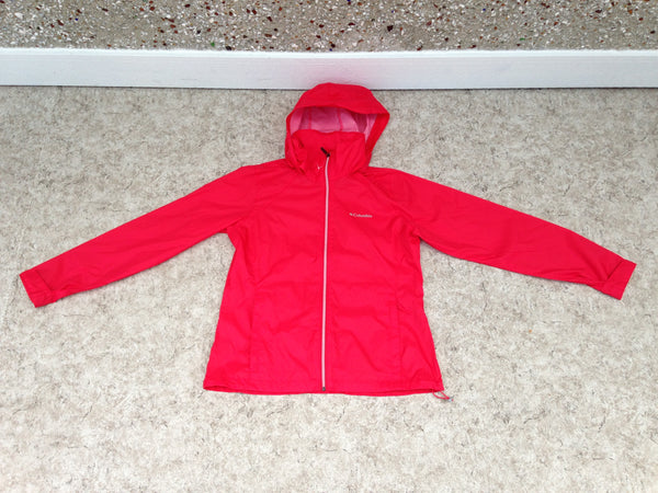 Rain Coat Ladies Size Large Columbia Waterproof Raspberry New Demo Model