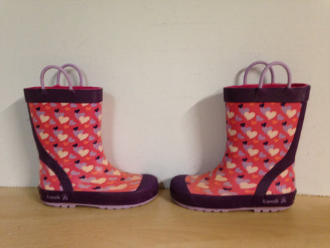 Rain Boots Child Size 11 Kamik Pink Purple