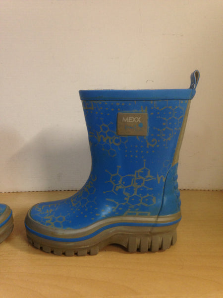 Rain Boots Child Size 9 Toddler Mexx Blue Grey Multi Minor Wear