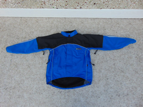 Rain Coat Child Size 10-12 Race Face Bike BMX Coat With Reflectors Blue Black