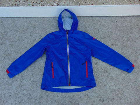 Rain Coat Child Size 12-14 McKinnley Aquamax Blue Red