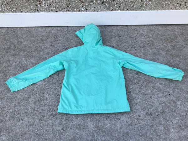 Rain Coat Child Size 14-16 The North Face Mint Grey Micro Fleece Lined Inside Excellent