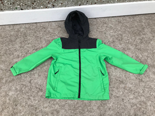 Rain Coat Child Size 7-8 McKinnley Black Lime Grey Excellent