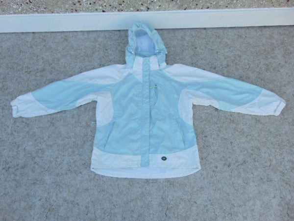 Rain Coat Ladies Size X Large Wetskins Teal White Waterproof As New