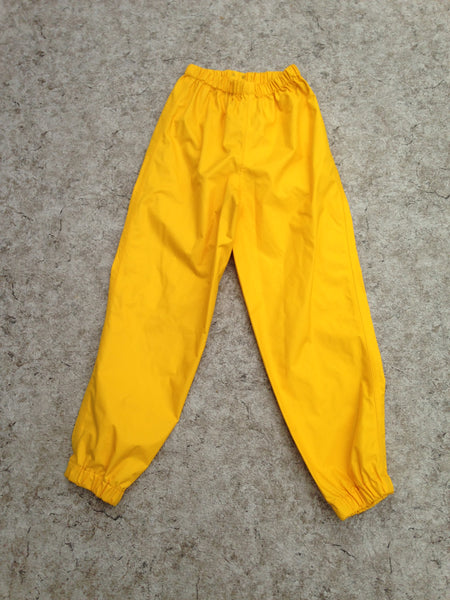 Rain Pants Child Size 10 MEC Yellow Waterproof