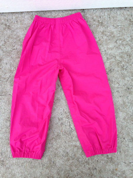 Rain Pants Child Size 4 Calikids Fushia Pink  Waterproof As New Excellent