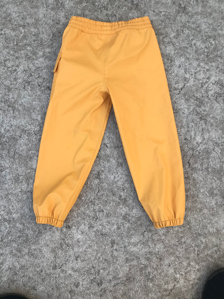 Rain  Pants Child Size 4 Hatley Lemon Yellow Excellent