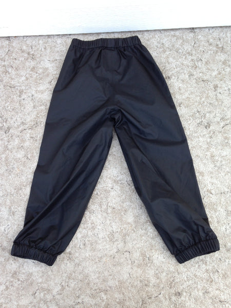 Rain Pants Child Size 5 MEC Black Waterproof Excellent