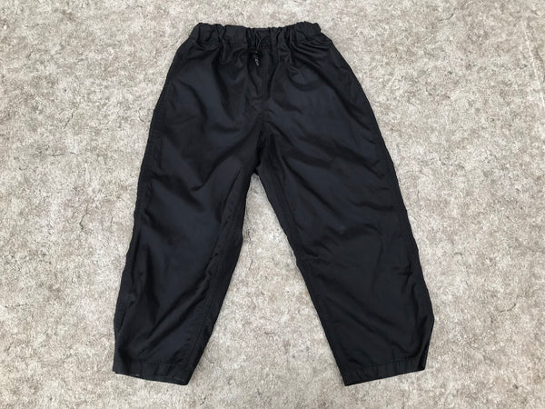 Rain Pants Child Size 7-8 Galyan's Waterproof Breathable Black