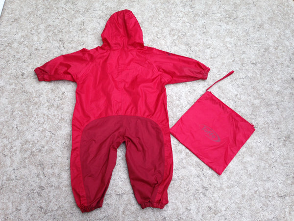Rain Suit Child Size 18 Month Muddy Buddy Tuffo Pants Coat Red With Bag