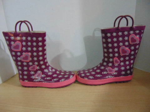 Rain Boots Child Size 4 Laura Ashley Pink Purple