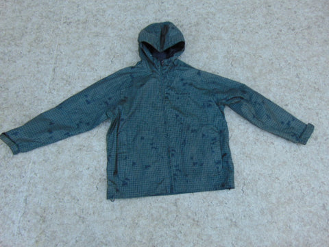 Rain Coat Child Size 10-12 FireFly Grey Black