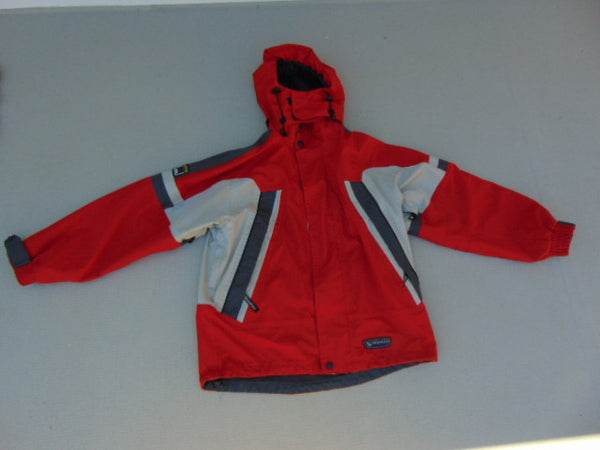 Rain Coat Child Size 10-12 Wetskins Red Grey