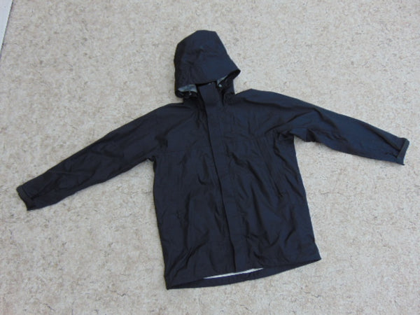 Rain Coat Child Size 12 MEC Black Waterproof New Demo Model