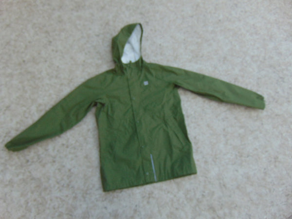 Rain Coat Child Size 12 MEC Olive Green Waterproof  As New Excellent
