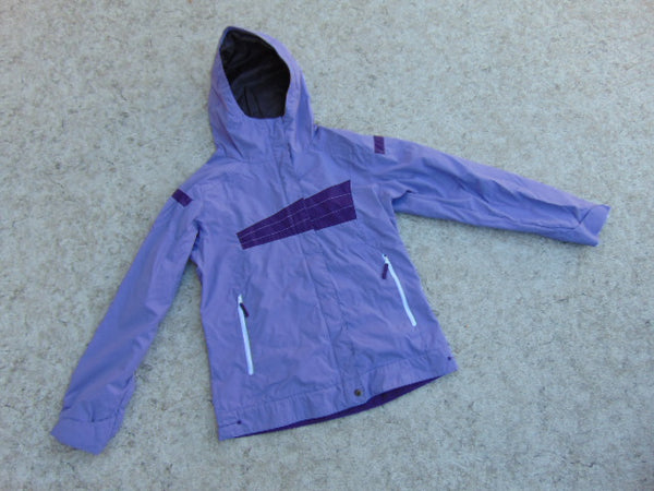 Rain Coat Child Size 14-16 Youth Columbia Purple and Grey Excellent