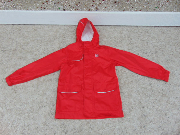 Rain Coat Child Size 8 MEC Red Waterproof Excellent