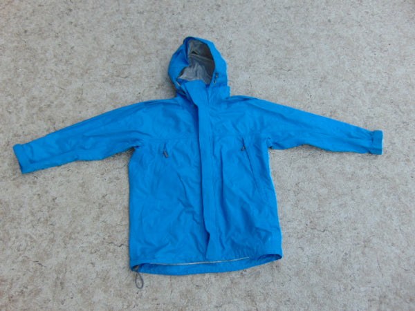 Rain Coat Child Size 8 MEC Waterproof Aqua Blue Grey